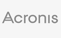 Acronis white background grey text